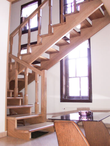 Stairways with wood structure